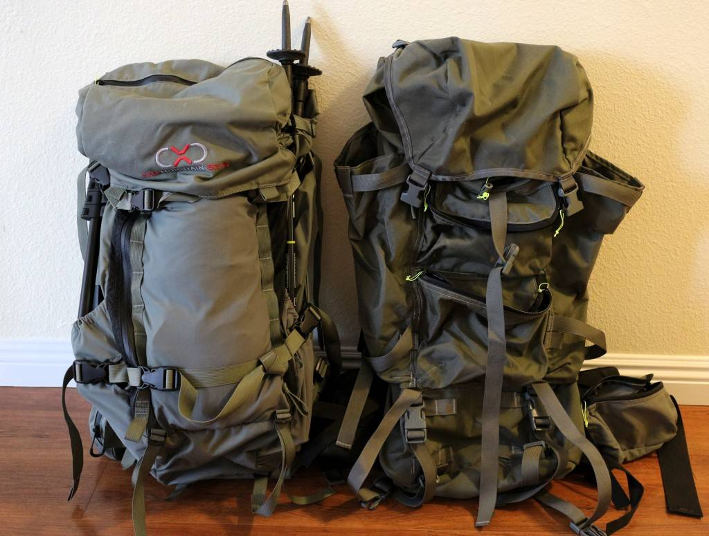 A pair of durable hunting backpacks