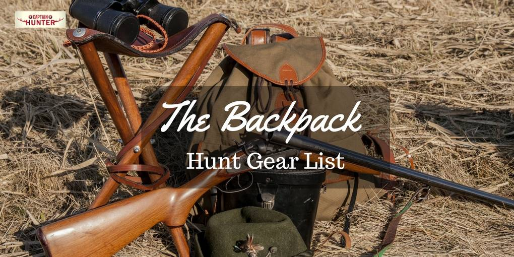 Backpack Hunt Gear List