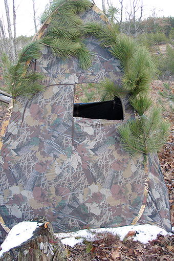 Building a ground blind