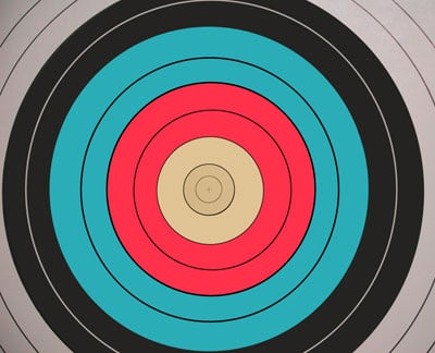 A rifle and pistol practice target