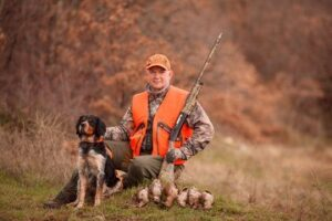 hunters with dogs hunting a bird woodcock - why hunting is good