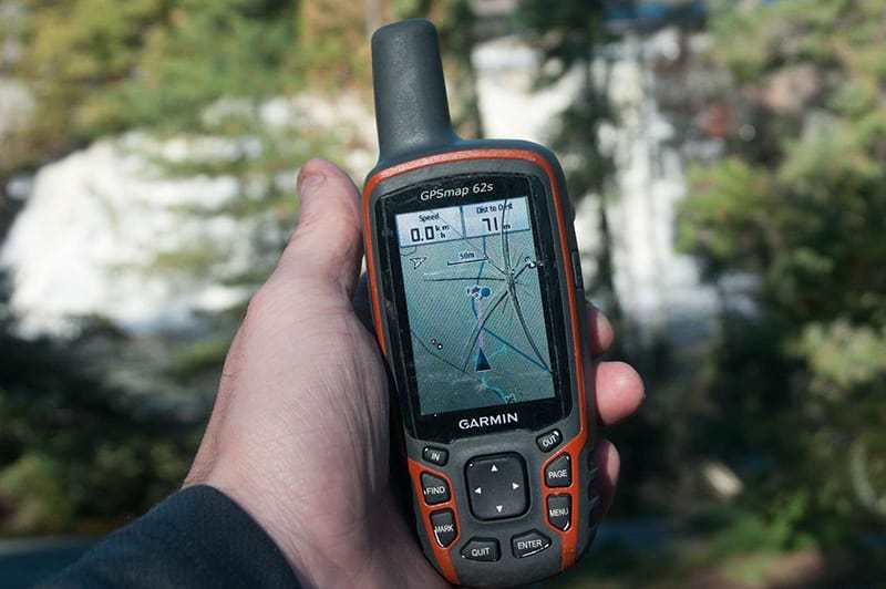 Hunting GPS Devices in hand